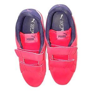 Boys Red Puma Sneakers sz 3 Athletic Fashion Shoes